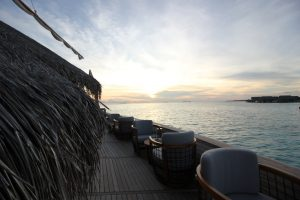 Cenar en un dhoni Milaidhoo Island Maldives