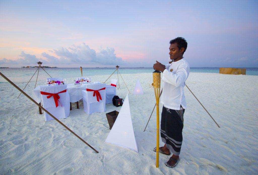 Cena en el Sandbank